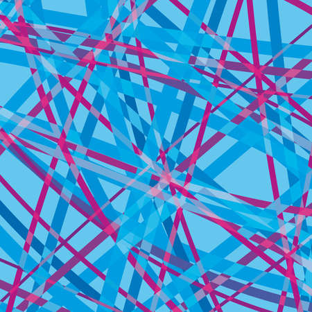 Abstract Lines blue, pink on Blue