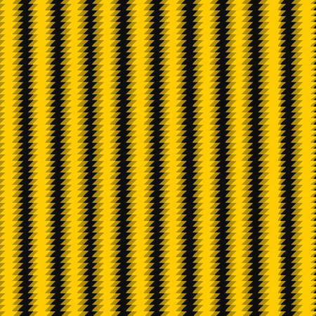 Waves stripped black and Yellow lines abstract vector background