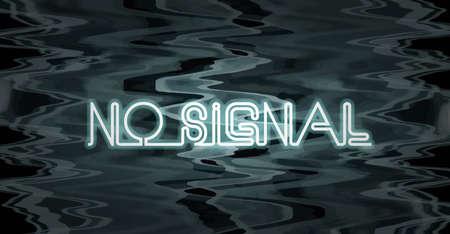 No Signal Television Screen  Vector