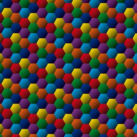 Abstract colorful background  Hexagon zoom Vector
