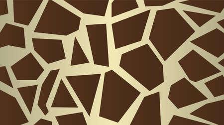 Stylized giraffe skin pattern  Large dark chocolate background vector