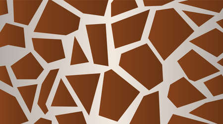 Stylized giraffe skin pattern  Large light brown background vector