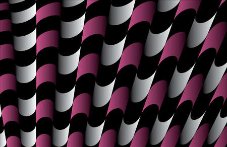 Abstract ornate striped textured geometric pattern  Pink Vector  Vector