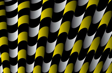 Abstract ornate striped textured geometric pattern  Yellow Vector