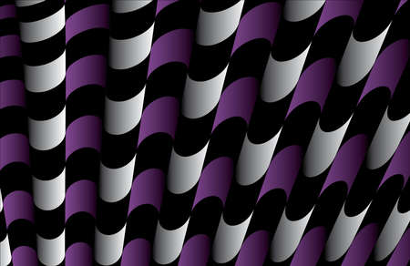 Abstract ornate striped textured geometric pattern  Purple Vector  Vector