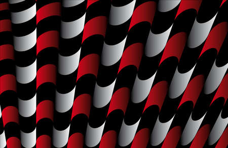 Abstract ornate striped textured geometric pattern  Red Vector