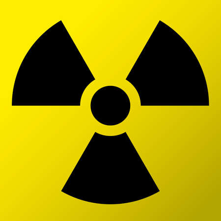 caution chemistry: Nuclear Symbol Icon Vector  Black Symbol Illustration