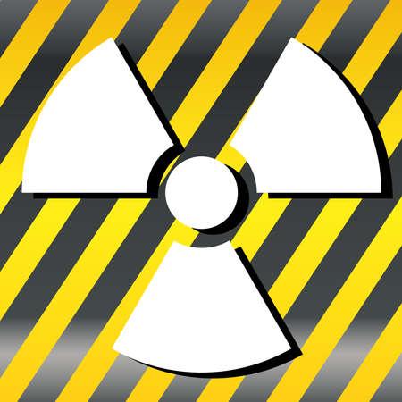 nuclear symbol: S�mbolo nuclear del vector del icono del s�mbolo negro, rayas amarillas Vectores