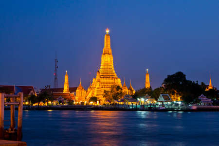 Chedi, Wat Arun in bangkok, in Thailand photo