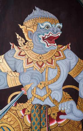 Hanuman, part of Mural painting