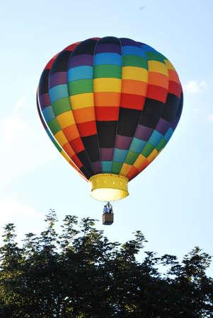 mountin: Hot Air Balloon Stock Photo