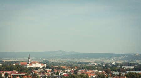 Panoramatic view of the Hradisko monastery in Olomouc, Czech Republic Stock Photo - 11186601