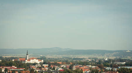 panoramatic: Panoramatic view of the Hradisko monastery in Olomouc, Czech Republic
