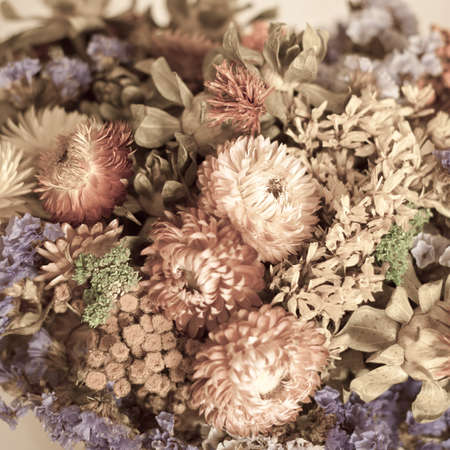 Closeup of a bouquet of dried flowers photo