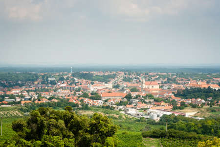 The city of Valtice - view from the Collonade Rajstna in South Moravia, Czech Republic