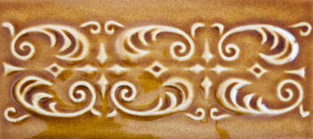 Honey-colored ornamental vintage background photo