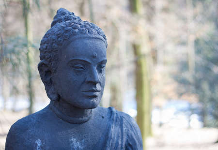 enlightment: Head of a statue of Buddha Stock Photo