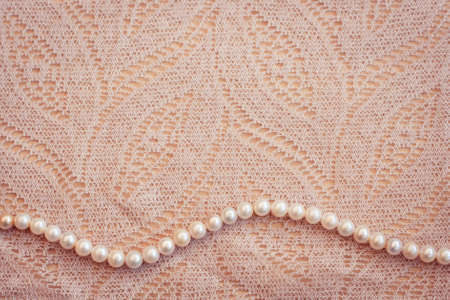 Lace and pearls vintage background