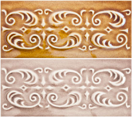 Honey- and cream colored ornamental vintage background photo