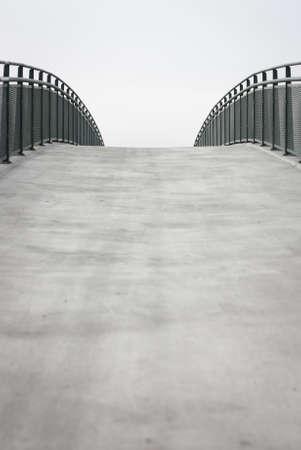 Empty bridge walkway background with copy space Stock Photo
