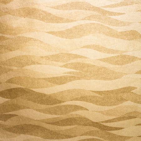 art nouveau vintage: Wavy golden background texture Stock Photo