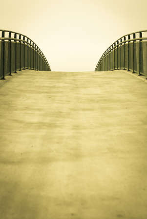 Empty bridge walkway background with copy space Stock Photo - 13036299