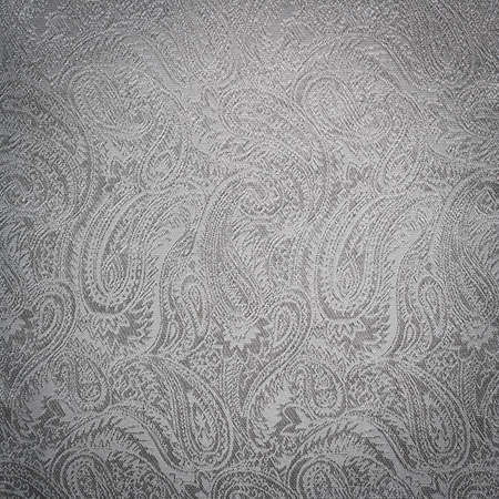 Silver paisley background texture photo