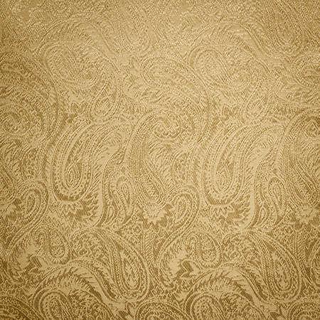 motif cachemire: La texture de fond d'or paisley Banque d'images