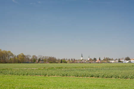 olomouc: A view of the town of Litovel and its natural surroundings  Olomouc region, Moravia, Czech Republic  Stock Photo