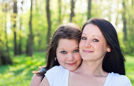 Portrait of two sisters photo