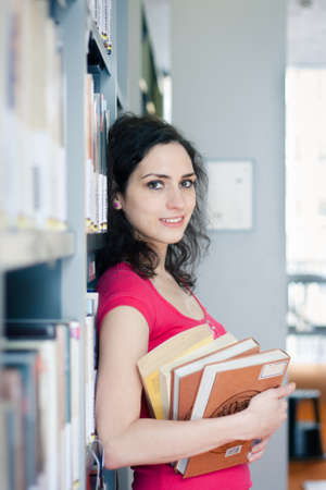 College student in the library Stock Photo - 17455049