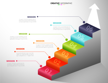 staircase infographic, Conceptual info graphics steps up ladders and doorway, template eight positions, possible to use for workflow, banner, diagram, web design, timeline.