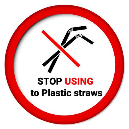 Di 'no alle cannucce di plastica