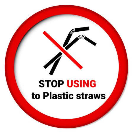 Say no to plastic straws Zdjęcie Seryjne - 108750716