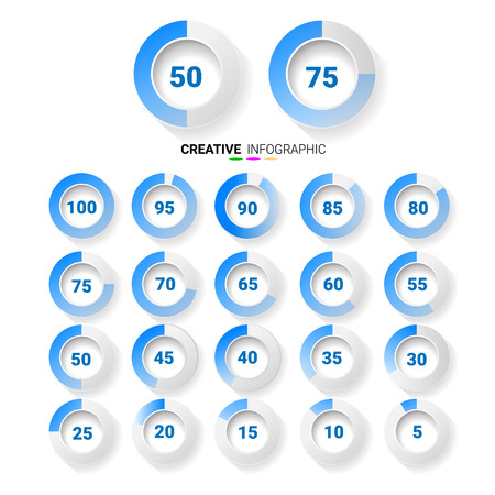 Infographic Elements Chart circle with indication of percentages.