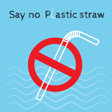 Say no disposable plastic drinking straws in favor of reusable metallic drinking straw.