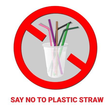 Say no disposable plastic drinking straws in favor of reusable metallic drinking straw. Say no to plastic straws.