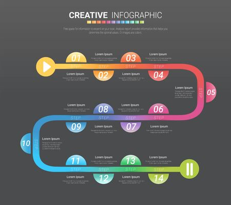 Timeline for 1 year, 12 months, infographics all month planner design and Presentation business can be used for Business concept with 12 options, steps or processes.