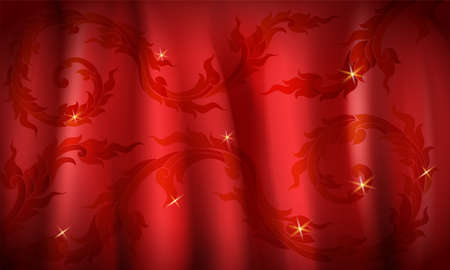 Luxury red color background, Thai traditional concept, illustration background. Foto de archivo