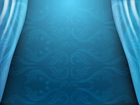 Thai traditional background, Blue background, The Arts of Thailand concept, illustration. Foto de archivo