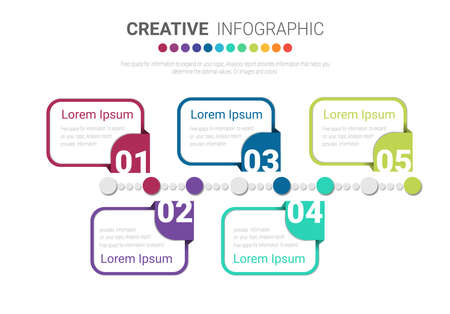 Infographic design with 5 options or steps. Infographics for business concept. Can be used for presentations banner, workflow layout, process diagram, flow chart, info graph