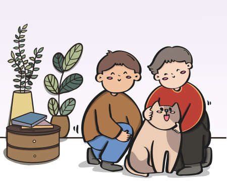 Romantic couples, Bundle transgender romantic partners, spend time together and their dogs.