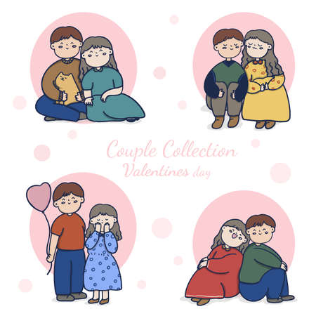 Romantic couple, man and woman spending time together