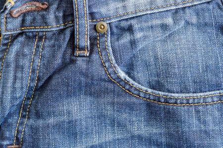 デニム ブルー ポケット クローズ アップ背景