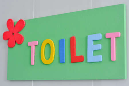 toilet door: toilet sign.Signs toilet door in various colors.