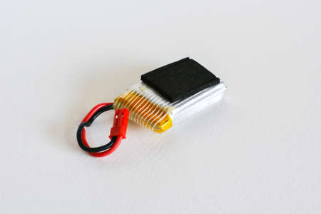 lithium: Battery lithium polymer on white background