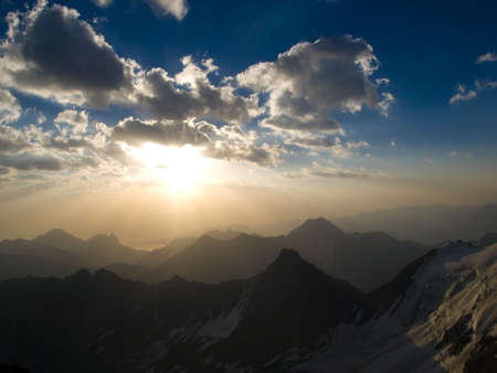 Mountains. Caucasus. Kabardino-Balkariya. Sunrise photo
