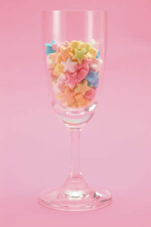 star candy in glass photo