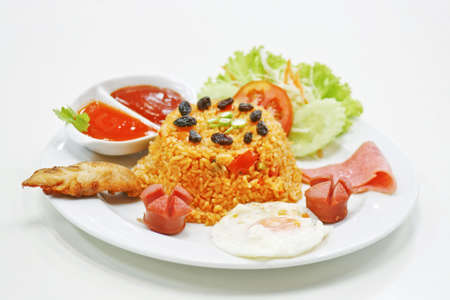fried rice thai food  american style  Stock Photo