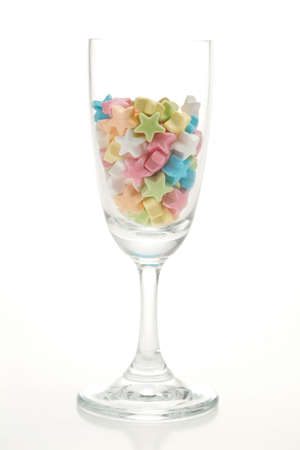 star candy in glass Stock Photo